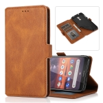 For Nokia 3.2 Retro Magnetic Closing Clasp Horizontal Flip Leather Case with Holder & Card Slots & Photo Frame & Wallet(Brown)