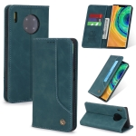 For Huawei Mate 30 Pro POLA 008 Series Retro Classic Magnetic Horizontal Flip Leather Case with Holder & Card Slots(Blue)