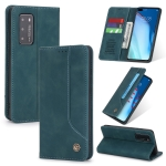For Huawei P40 POLA 008 Series Retro Classic Magnetic Horizontal Flip Leather Case with Holder & Card Slots(Blue)
