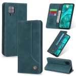 For Huawei P40 Lite POLA 008 Series Retro Classic Magnetic Horizontal Flip Leather Case with Holder & Card Slots(Blue)