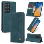 For Huawei P40 Pro+ POLA 008 Series Retro Classic Magnetic Horizontal Flip Leather Case with Holder & Card Slots(Blue)