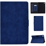 For Samsung Galaxy Tab A7 (2020) T500 Cowhide Texture Horizontal Flip Leather Case with Holder & Card Slots & Sleep / Wake-up(Blue)