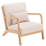 [US Warehouse] Fabric Chair Single Sofa Chair with Armrests, Size: 75 x 68 x 66cm