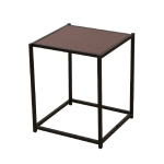 [US Warehouse] Antique Iron Frame Wood Texture Veneer Table, Size: 38×37.5x 46cm