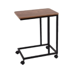 [US Warehouse] Metal Frame Type C Mobile Table with Wheels, Size: 20×14.1×24.6 inch