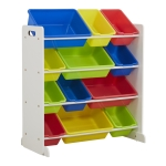 [US Warehouse] 4-layers 12-grid Toy Storage Rack