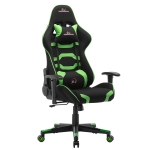 [UK Warehouse] SJ Office Rotatable Lifting Adjustable Chair Reclining Chair Game Chair PU Leather Office Chair with Armrests, Seat Size: 53 x 53cm, Height: 125-135cm(Green)