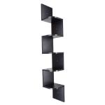 [US Warehouse] 5-layer Trapezoidal Wooden Wall Shelf, Size: 20x20x123cm