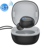 hoco E50 Bluetooth 5.0 Unilateral Wise Mini Bluetooth Earphone with Charging Box & Hand Strap (Black)