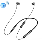 Original Lenovo QE08 IPX5 Waterproof 9D Audio Bluetooth 5.0 Neck-mounted Bluetooth Earphone with Magnetic Absorption & Wire Control Function, Built-in Dual Battery (Black)