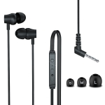 Original Lenovo QF320 3.5mm Plug In-ear Sliding Type Wire Control Stereo Earphone, Cable Length: 1.2m (Black)