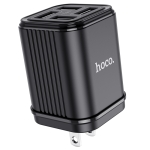 Hoco C84B SuRui 4-port USB Charger Travel Charger, US Plug (Black)