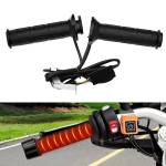 WUPP CS-095D1 Motorcycle Modified Adjustable Temperature Silicone Universal Electric Heating Hand Cover Heated Grip Handlebar(Black)