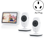 SP870 2 PCS Wireless Digital Monitoring Camera Baby Career Monitor with 7 inch Larger Screen Display, AU Plug