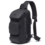 BANGE Fashion Travel Chest Bag Business Backpack Single Shoulder Bag (Black)