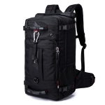 BANGE Oxford Cloth Backpack Travel Men Outdoor Large Capacity Luggage Bag Multifunctional Hiking Shoulders Bag(Black)