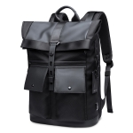 BANGE Men Leisure Business Backpack Travel Large Capacity Student Shoulders Bag(Black)
