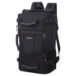 Large Capacity Backpack Men Travel Bag Leisure Student Waterproof Shoulders Bag with Lock(Black)