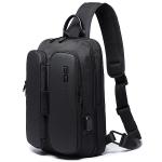 BANGE Fashion Casual Shoulder Bag Outdoor USB Chest Bag (Black)