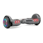 [EU Warehouse] Fire Kirin 6.5 inch Balance Scooter 350W 2.0Ah Two-wheeled Scooter with Bluetooth & Remote Control & Wheel Lights & Car Bag, Max speed :15km/h(Carbon Fiber Black)