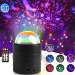 USB Bluetooth Starry Sky Stage Light with Remote Control (Black)