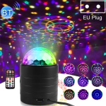 Bluetooth Crystal Magic Ball Stage Light with Remote Control, EU Plug(Black)