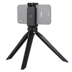 PULUZ Pocket Mini Plastic Tripod Mount with Phone Clamp for Smartphones (Black)