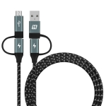 MOMAX DC12D 4 in 1 3A USB + PD USB-C / Type-C to Micro USB + PD USB-C / Type-C Interfaces PVC + Nylon Braided Data Cable, Cable Length: 1.2m