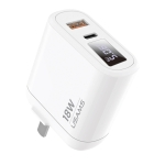 USAMS US-CC103 T30 18W QC3.0+PD3.0 Digital Display Fast Charging Travel Charger Power Adapter, CN Plug (White)
