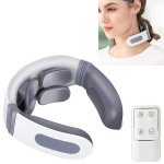 4-head Neck Protector Pulse Multifunctional Intelligent Cervical Massager Rechargeable Remote Control Version(White)