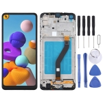 LCD Screen and Digitizer Full Assembly With Frame for Samsung Galaxy A21 / SM-A215(Black)