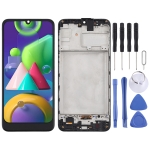 TFT Material LCD Screen and Digitizer Full Assembly With Frame for Samsung Galaxy M21 / SM-M215 (Black)