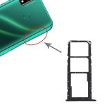 SIM Card Tray + SIM Card Tray + Micro SD Card Tray for Huawei Y8s (Black)