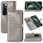 For Huawei Mate 40 Lite/Maimang 9 Mandala Flower Embossed Horizontal Flip Leather Case with Bracket / Card Slot / Wallet / Lanyard(Gray)