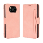For Xiaomi Poco X3 NFC Wallet Style Skin Feel Calf Pattern Leather Case ,with Separate Card Slot(Pink)