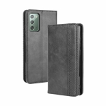 For Samsung Galaxy S20 FE 4G / 5G Magnetic Buckle Retro Crazy Horse Texture Horizontal Flip Leather Case  , with Holder & Card Slots & Photo Frame(Black)