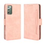 For Samsung Galaxy S20 FE 4G / 5G Wallet Style Skin Feel Calf Pattern Leather Case ,with Separate Card Slot(Pink)