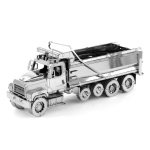 3D Metal Assembly Model Engineering Vehicle Series DIY Puzzle Toy, Style:Dump Truck