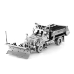 3D Metal Assembly Model Engineering Vehicle Series DIY Puzzle Toy, Style:Snow Plow