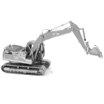 3D Metal Assembly Model Engineering Vehicle Series DIY Puzzle Toy, Style:Excavator
