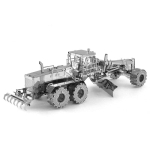 3D Metal Assembly Model Engineering Vehicle Series DIY Puzzle Toy, Style:Automatic Grader