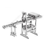 3D Metal Assembly Model Engineering Vehicle Series DIY Puzzle Toy, Style:Quay Crane
