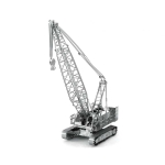 3D Metal Assembly Model Engineering Vehicle Series DIY Puzzle Toy, Style:Crane