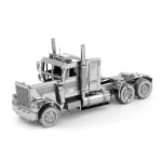 3D Metal Assembly Model Engineering Vehicle Series DIY Puzzle Toy, Style:Long Nose Truck