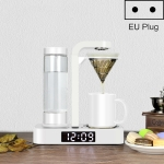 HOMEZEST Household Stainless Steel Mesh Coffee Machine Commercial Automatic Drip Coffee Maker, Style:EU Plug(White)