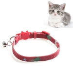 4 PCS Christmas Snowman & Tree Pattern Pet Collar with Bells, Style:Without Bow(Red)