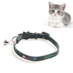 4 PCS Christmas Snowman & Tree Pattern Pet Collar with Bells, Style:Without Bow(Green)