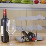 Stainless Steel Wrought Iron Wine Rack Wine Cabinet Decoration