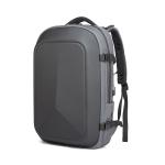 Ozuko 9082 Men Business Computer Backpack Large Capacity Waterproof Travel Bag with External USB Charging Port(Gray)