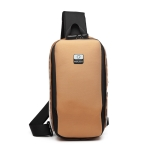 Ozuko 9281 Men Outdoor Waterproof Multifunctional Anti-Theft Messenger Bag with External USB Charging Port(Brown)